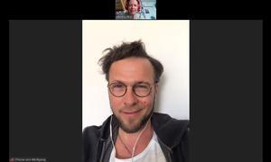 Wolfgang Kimmel beim Zoom-Gespräch.