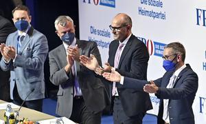 Manfred Haimbuchner, Norbert Hofer, Harald Stefan, Herbert Kickl