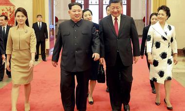 Chinas Präsident Xi Jinping besucht Kim Jong-un