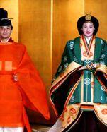 Naruhito und seine Frau Masako bei ihrer Hochzeit im Jahr 1993.