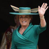 . 12/10/2018. Windsor, United Kingdom. Sarah Ferguson Duchess of York at the Princess Eugenie and Jack Brooksbank weddi