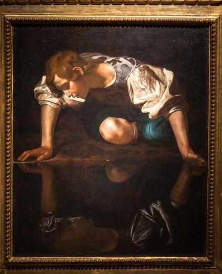 """Ein Highlight der Ausstellung: Caravaggios """"Narziss"""", um 1601, aus der Villa Barberini in Rom."""
