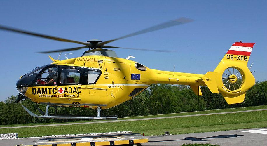 Christophorus-Helikopter im Einsatz.