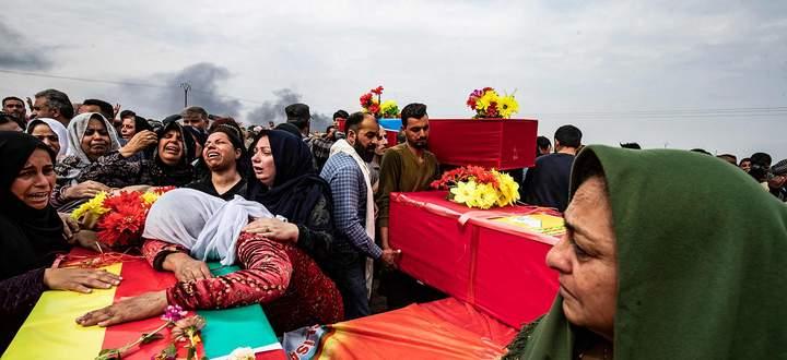 Der Krieg in Nordsyrien hat Dutzende Opfer gefordert. Viele fürchten, dass der Krieg nach der Feuerpause wieder aufflammt.