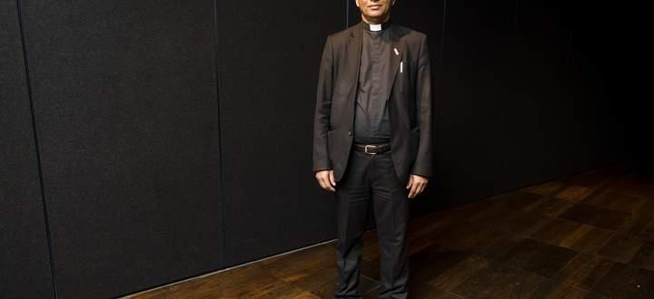 Pater Tom Uzhunnalil war für einen Kongress der Päpstlichen Missionswerke in Wien. Der Priester aus Indien war 557 Tage lang im Jemen in Geiselhaft.