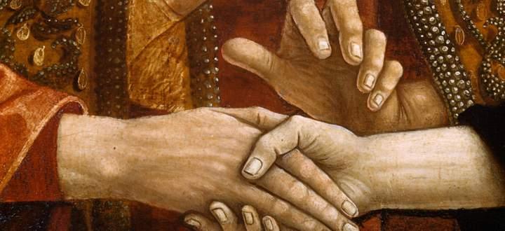 """Lässt sich Religion mit Aufklärung vermählen? Die """"Hochzeit Marias"""" von Michael Pacher."""
