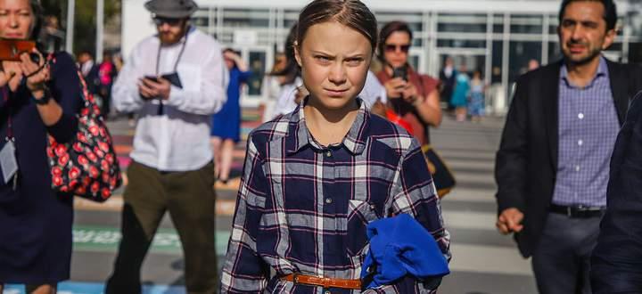 """7,6 Millionen Menschen nahmen in 185 Ländern an über 6000 Demonstrationen teil. Im Bild die """"Galionsfigur"""" Greta Thunberg im September 2019 in New York."""
