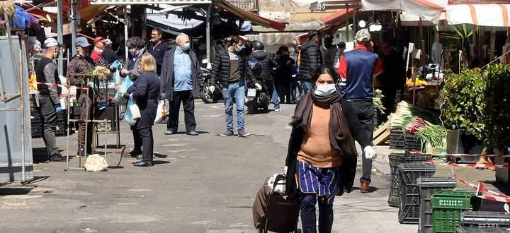 Der Mercato Ballaro in Palermo während des Corona-Lockdowns.