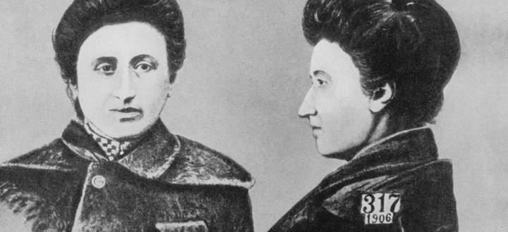 Erkennungsdienstliche Aufnahme von Rosa Luxemburg (1871 bis 1919), Warschauer Polizeigefängnis 1906.