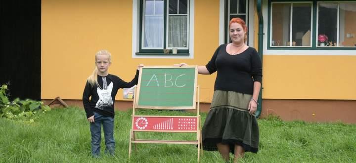 Julia Nußbaumer wird ihren Sohn Ludwig zu Hause unterrichten.