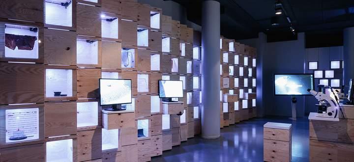 Pixel-Installation im neueröffneten Ars Electronica in Linz.