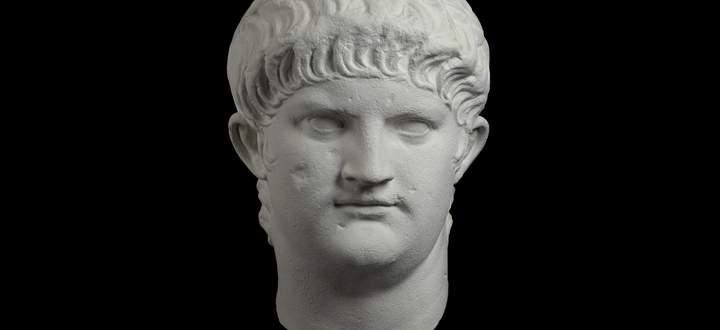 Nero Claudius Caesar Augustus Germanicus (37–68), in einer Büste aus seinen letzten Jahren.