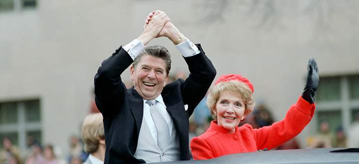 Reagan mit seiner Frau.