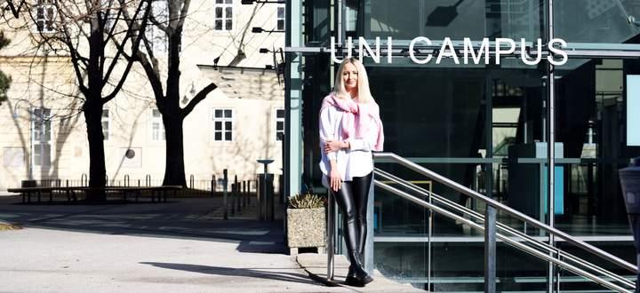 Julia Hofinger hat im Wintersemester ihr Studium an der Medizinischen Universität Wien begonnen. Die Universitätszahnklinik befindet sich auf dem Campus des Alten AKH.