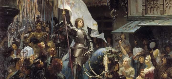 Der triumphale Einzug Jeanne d'Arcs in Orleans. Gemälde von 1887.