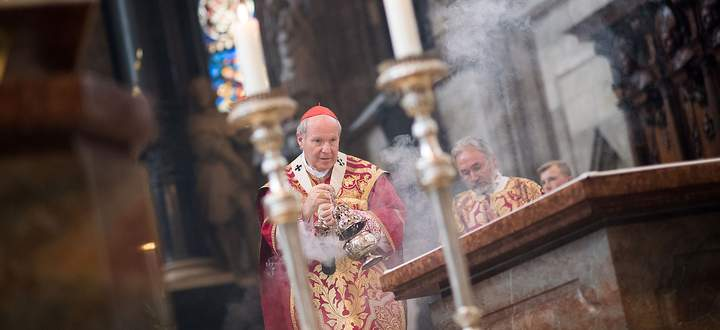 Kardinal Christoph Schönborn beim Pfingsthochamt am 9. Juni 2019 im Wiener Stephansdom.