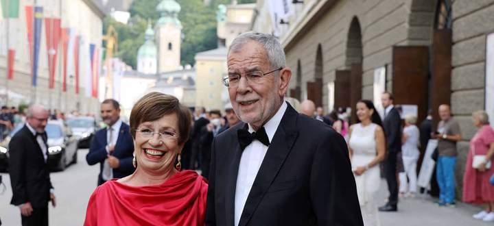 Salzburger Festspiele Don Giovanni Premiere Salzburg, 26. 07. 2021 Alexander van der BELLEN mit Frau Doris - *** Salzbu