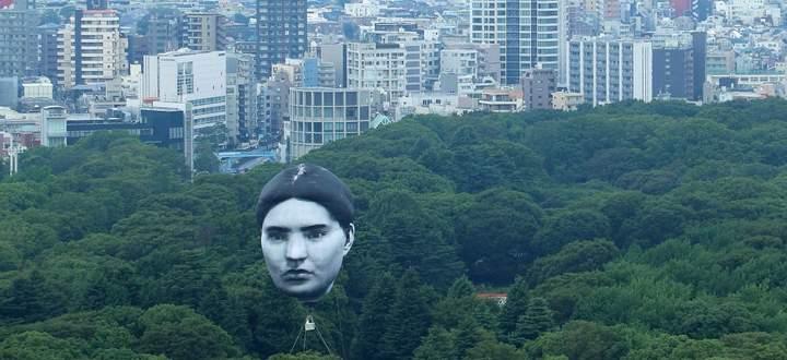 Der Heißluftballon über Tokio ist Teil des Kunstprojekts Masayume – japanisch für einen Traum, der wahr wird.