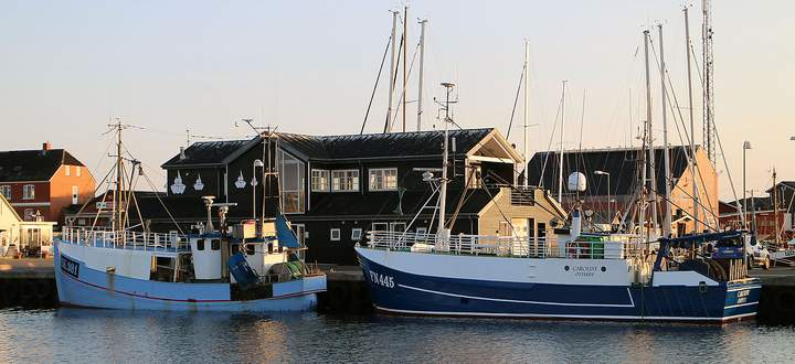 Kutter im Hafen von Østerby auf der dänischen Insel Læsø. Bald geht es wieder zum Langusten-Fischen hinaus.