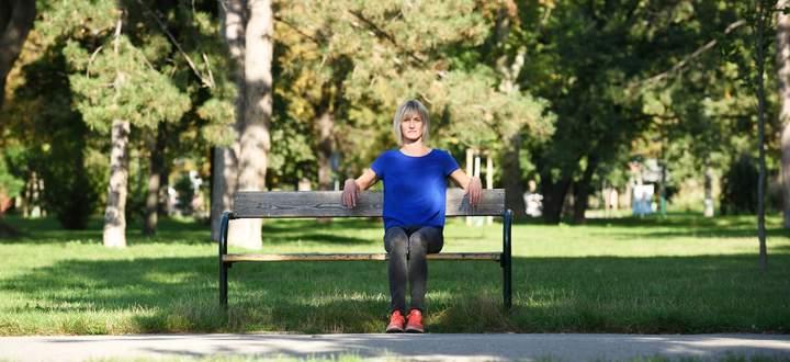 Katharina Zedlacher – hier im Wiener Prater – liebt die Zeit mit ihrem Sohn und ihrem Partner, genießt aber auch Tage, die sie für sich allein hat.