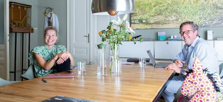 """Nina Gscheider und Franz Ihm """"at work""""."""