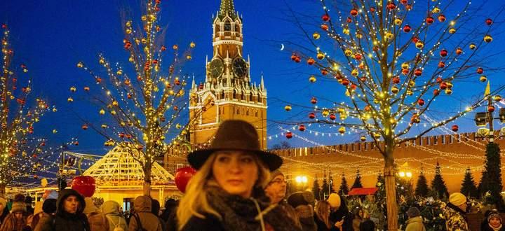 Weihnachtsstimmung auf dem Roten Platz vor dem Kreml. Die russische Börse war schon das ganze Jahr über in bester Feierlaune.