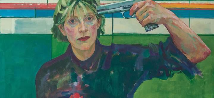 """So schlimm ist es nicht, das Programm 2021. Auch Xenia Hausner bekommt endlich ihre (verschobene) Retrospektive in der Albertina. """"Kopfschuss"""", 2002–2004."""