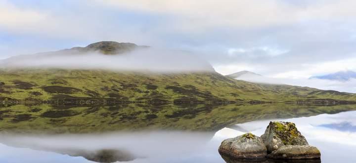 Nicht alle Moore der schottischen Highlands sind so unversehrt wie Lochan na H'Achlaise.