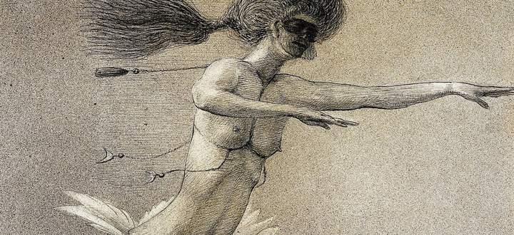 """Bizarre Traumfantasien, Dämonie der Erotik: """"Fee"""", um 1902/03."""