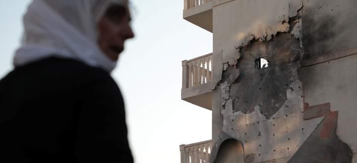 Kurz nach Beginn des türkischen Feldzugs in Nordsyrien vergangene Woche schlugen in Nusaybin Geschosse ein.