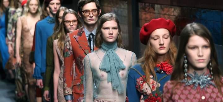 Anfang 2015 tritt Alessandro Michele aus der zweiten in die erste Reihe bei Gucci: Die neue Romantik beginnt.