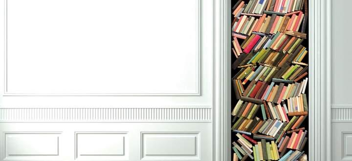 Scheinarchitektur: Wandtapete von Christophe Koziel.
