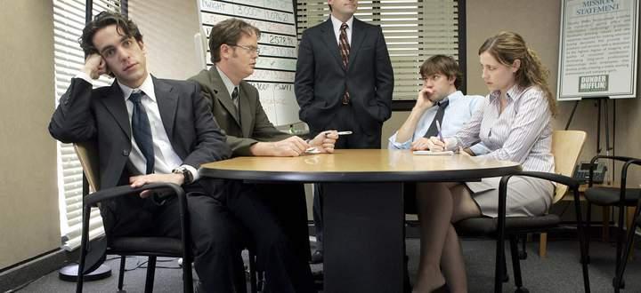 """Die ursprünglich britische Serie """"The Office"""" lief in der US-Version auf NBC von 2005 bis 2013. Noch heute ist sie in den USA die beliebteste Serie auf Netflix."""