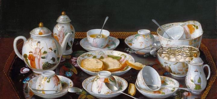 Der im Wien Maria Theresias beliebte Maler Jean-Étienne Liotard malte 1781 ein Porzellan-Teeset.
