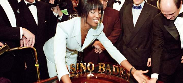 Die Neueröffnung des Casinos Baden 1995: Stargast war Model Naomi Campbell, die Welt war noch in Ordnung.
