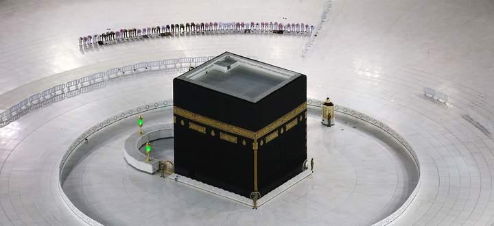 Die Pilgerstätten in Mekka sind seit Wochen dicht, der diesjährige Hadsch im Sommer wird wahrscheinlich ausfallen. Im Bild die Kaaba am 24. April.