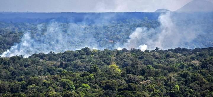 Rauch im Urwald des brasilianischen Amazonasstaates Amapá, Bild vom Vorjahr.