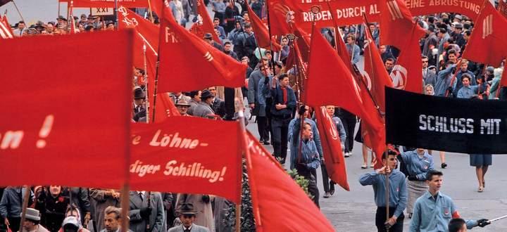 So sahen 1.-Mai-Demonstrati-onen in den 1970er-Jahren aus.