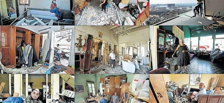 Ein Leben in Scherben: Bewohner der libanesischen Hauptstadt in ihren zerstörten Wohnungen.