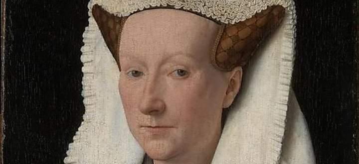 Margarete van Eyck, 1439, die Ehefrau des Malers Jan van Eyck, porträtiert von demselben. Er hatte eine Schwester gleichen Namens, die auch malte. Von der aber weder Werk noch Porträt erhalten sind.