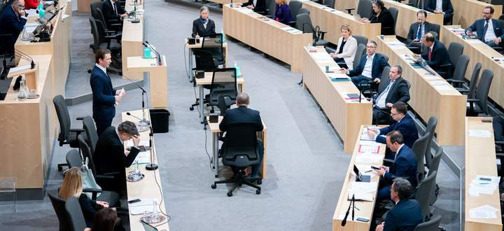 Bei der Nationalratssitzung am Freitag fehlten zwar bereits einige Abgeordnete, die Beschlussfähigkeit war aber gegeben.