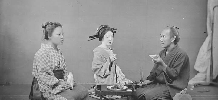 Michael Mosers Fotografien gelten heute als wertvolle Bildzeugnisse der japanischen Meiji-Zeit. Hier eine Aufnahme von 1872.