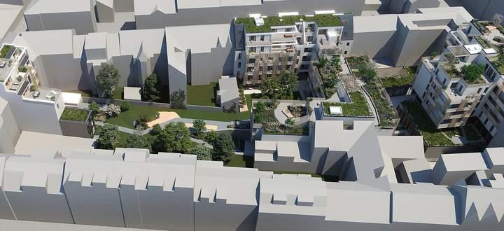 Zwischen Gebler-, Helblinggasse und Ottakringer Straße entsteht ab 2021 das Projekt Apfelbaum.