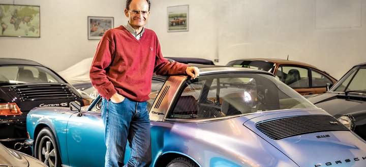"""""""Freudenhaus"""" nennt Georg Konradsheim den feinen Mix quer über die Epochen; Porsche-Eklektizismus, sozusagen."""