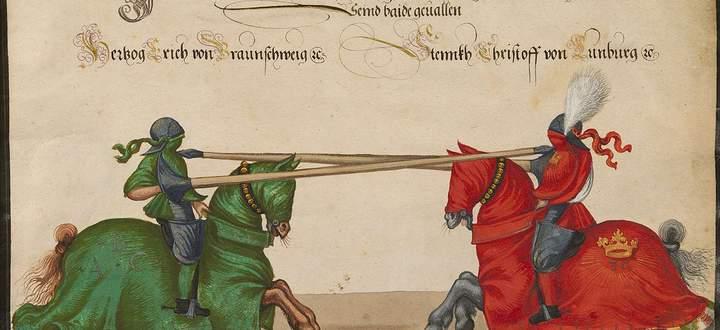 Ein Turnier im späten Mittelalter, Linz 1489/90.