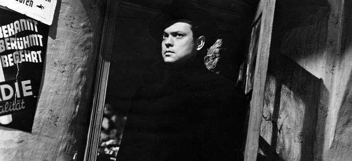 """Ein Wien der Gangster, der Schieber, der Unterwelt. Orson Welles als Harry Lime in """"Der dritte Mann""""."""