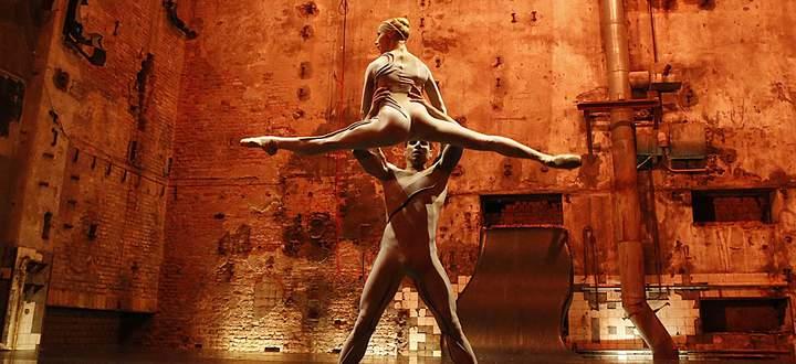 Dancers of Staatsballett Berlin ensemble perform during a dress rehearsal of world premier of