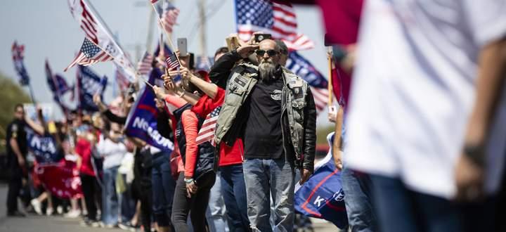 Ein Salut für den nächsten US-Präsidenten? In Bundesstaaten wie Pennsylvania, die Amtsinhaber Trump 2016 gewonnen hat, entscheidet sich die Wahl am 3. November.