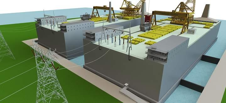 Projekt schwimmender Atomkraftwerke von ThorCon, wie sie in einigen Jahren vor Indonesien getestet werden könnten.