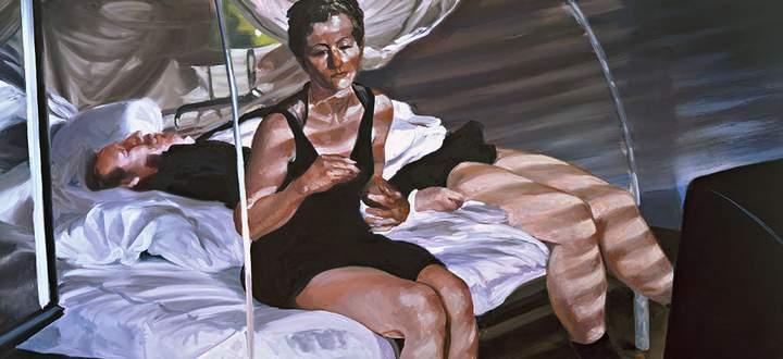"""In """"Krefeld Project"""" malte Eric Fischl 2002 Schauspieler, die dort für ihn ein paar Tage Beziehungsdrama spielten (Ausschnitt)"""